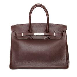 Hermes 'Havane Birkin 35' Bag