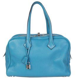 Hérmes Blue Jean 'Victoria II Fourre-Tout 35' Bag